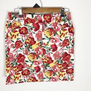 Floral pencil mid skirt by Loft